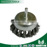 WT0306001 shank twist knotted wire bowl cup brush