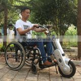 36V 400W Electric Wheelchair Mobility Scooter, 12Inch Aluminum Alloy Wheelchair Electric Handcycle, Wheelchair E-Trailer