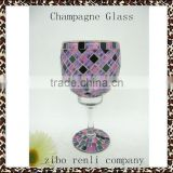 Modern Cheap Wedding Decoration Champagne Wine Glass Tall Purple Vases