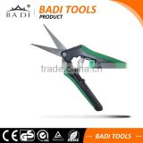 Professional garden supplier easy working mini grape scissors pruning shears/flower cutting