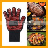 Non-Slip Kitchen Oven Mitts Heat Proof Gloves, Insulated Potholder for Cooking, Baking, Barbecue