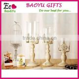 Glass Iron Candle holders candelabra centerpieces wedding for tables decoration vintage European style candlestick portavelas