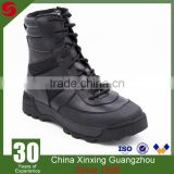 Security Staff Leather Military Tactical Boots Grain Leather Nylon Quater Army EVA Rubber Mould Outsole Boots