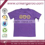 3D patches embroidery Greek symbol sports jersey knitted wear o neck Tshirts manufacturer in China