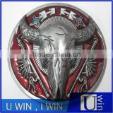 wholesale round bull head belt buckle