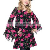 Sweet American Girl Doll Clothes Latest Lovely Cute Print Dress Blouse Design Bohemian Style Shift Dress Tunic For Sweet Girls