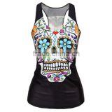 wholesale custom cheapest elastane sublimation tank top