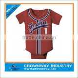 wholesale infant boy baseball jersey, baby romper