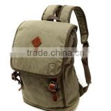 Unisex,Vintage Casual Cotton Canvas Leather Backpack Rucksack Bookbag ,Lagtop Bag Computer Bag For Men & Women