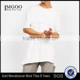 MGOO 2017 OEM Plus Size American Apparel Newest Fashion Plain White T-shirt Custom Cotton Street Style