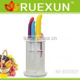 KTC023 - With PVC holder 5pcs Kitchen Ceramic Knife Set