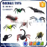 6pcs liftlike animals mini plastic insect toys for halloween