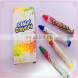 4 mini high quality crayons for children