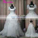 AC1060 Cap Sleeve Ball Gown Wedding Dresses Real Sample