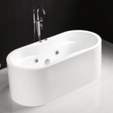 Oval indoor acrylic freestanding bathtub