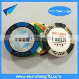 Promotional Plastic Golf Ball Markers / Plastic Poker Chip / Casino Chip Wholesale