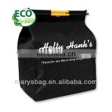 insulated recycled shopping bag with reflective aluminum foil lining and plastic carrying handles