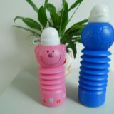 little bear shape Telescopic plastic kids sport water bottle