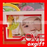 Oxgift lovely newborn baby picture frame plastic pvc photo frame for gifts