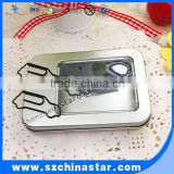 Tin box package personalized style car shape paper clip