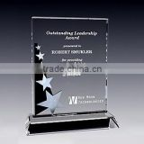 Crystal star plaque crystal shooting star award