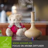 New Design Wood Grain Hotel Lobby Room Air Fresh Vase Shape USB Ultrasonic Aroma Diffuser Humidifier