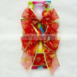 Christmas butterfly knot with glitter paint, ribbon bow suitable for Christmas packaging and Wedding decoration