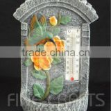 Cement garden flower sculpture weatherglass bird feeder