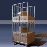 Logistics warehouse steel nestable cage trolley
