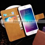 IN STOCK Wholesale Mix Color PU real leather for iphone 6 wallet case cheap                                                                                         Most Popular