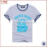 Custom Cotton T shirt , Breathable White T shirt Printing , Blank 100% Cotton T shirt Men