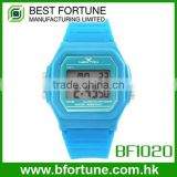 BF1020 Colorful any pantone plastic LCD Digital watch
