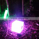 solar LED light cube with bluetooth stereo & remote control & solar YXF-4343BS