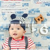 japanese wholesale border fashion baby cotton animal hats with bear ear high quality infant wear child clothes