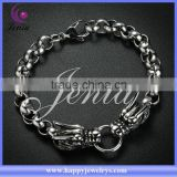 Cool design dragon shaped black bracelet 316l stainless steel cheap wholesale bangles (DSH014)
