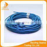 2 mm Bolo Braided Leather Cord necklace paracord