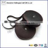 Top Grade Thin Round Leather CD Wallet Hot Sale