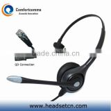Monaural call center telephone headphone with RJ plug HSM-600RPQDRJ