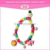 High quality cheap resin material handmade charm rubber chain bracelet manufacturer