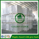 White Front Clay Coated Grey Back Carton Duplex Board in Sheet