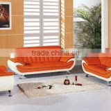 2013 new design, 1st layer yellow cattle leather classic 1+2+3 sofa set, furniture wooden sofa 602-21