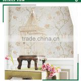 affordable embossed plastic wallpaper, gray pastoral flower wallcovering for bathroom , decorating wall paper online