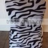 wholesale specific zebra print lycra chair cover for wedding banquet hotel