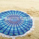 Indian hippie cotton roundie mandala throw round yoga mat beach tapestry tasels table cover home decor wall hanging