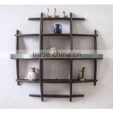 2015 Modern style wooden display rack,Wall mounted wood MDF decorative floating wall shelf, hanging display rack