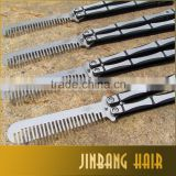 New cool style bomb handle practice balisong butterfly comb trainer with no offensive blade