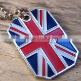 Low price customised flag dog tags hot sales British flag dog tags high quality dog tags uk