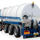 Benz vacuum cleaning truck/Vacuum Suction Semi Trailers/sewage suction tanker trailer Mr.Keane +86 13597828741