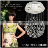 Ball Shape Modern Crystal Ceiling Lamp Fixture Global Crystal Light for Stairs, meeting room 100% Guarantee