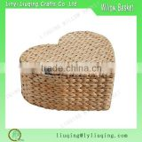 Heart shaped Valentine day wicker gift basket with lid wholesale                                                                         Quality Choice
